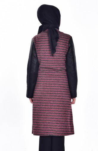 Quilted Coat 0407-04 Fuchsia 0407-04