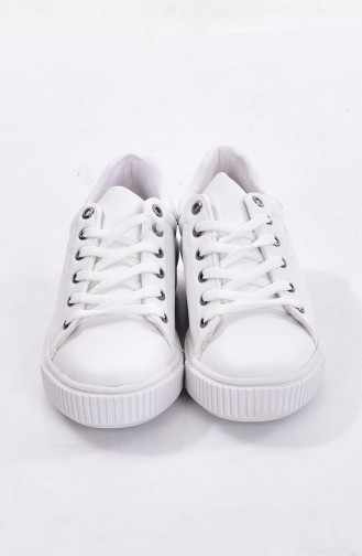 White Sport Shoes 0778-04