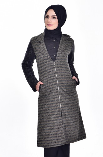 Quilted Coat 0407-02 Green 0407-02