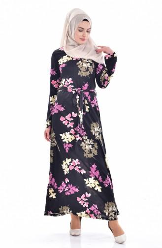 Dilber  Belted Dress 5107-01 Black 5107-01