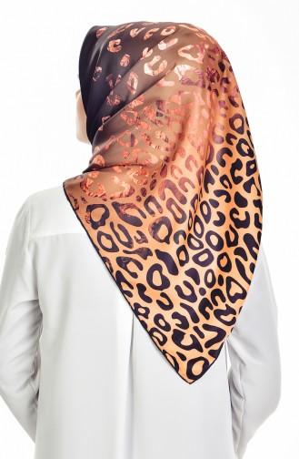 Echarpe a Motifs Leopard 95060-04 Couleur Saffran 04