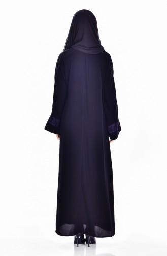 Elbise Ferace İkili Takım 7752-03 Siyah Mor 7752-03