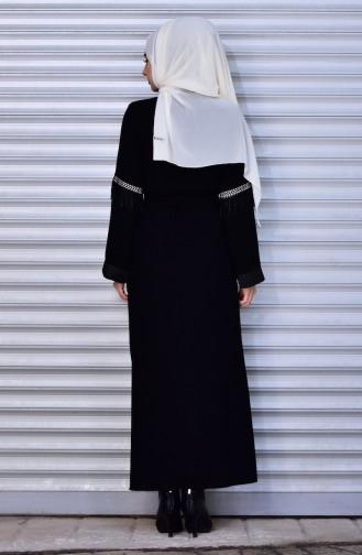 Black Abaya 7757-01