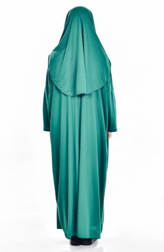 Sefamerve Practical Prayer Dress with Bag 0900-04 Emerald Green 0900-04