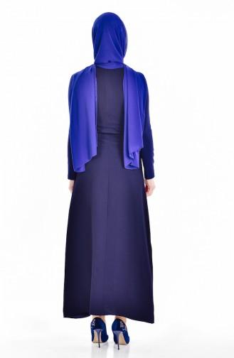 Navy Blue Dress 4434-02