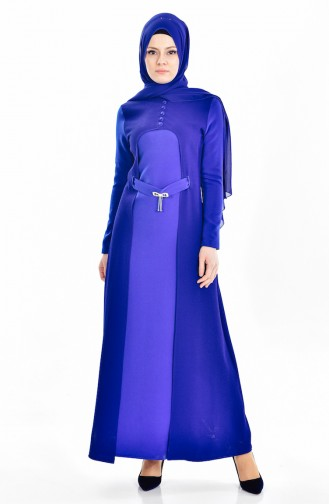 Kleid mit Gürtel 4434-05 Saks 4434-05