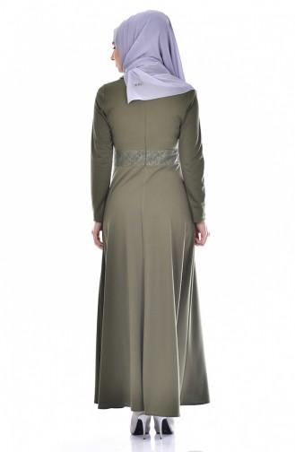 Robe a Perles 0035-01 Khaki 0035-01