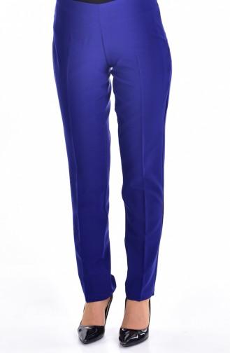 Pantalon a Fermeture de Côté 2875-10 Bleu Roi Foncé 2875-10