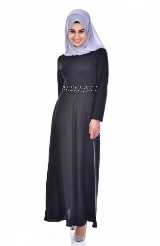 Black İslamitische Jurk 0035-05