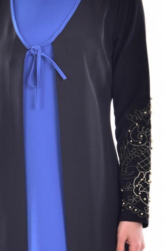 فستان بتفاصيل مُطرزة مُزين بأحجار لامعة 1860-03