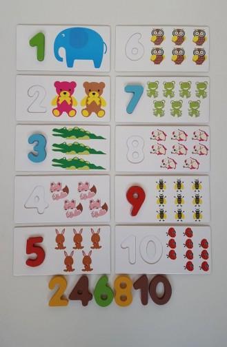 Jeu d`apprentissage de nombres en bois SF-97 97