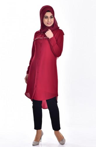 Claret red Tunic 3038-03