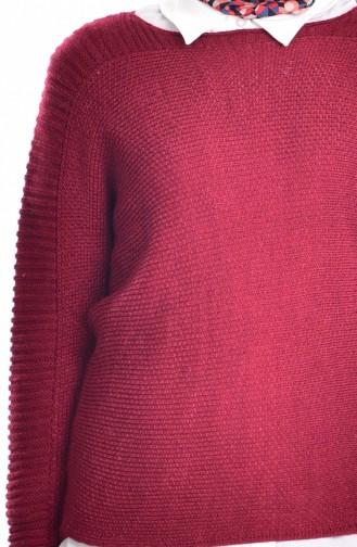 سترة أحمر كلاريت 1015-03