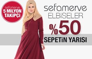 Elbise Modellerinde Sepetin Yarısı %50
