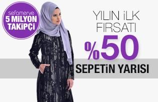 YILIN İLK FIRSATI %50 SEPETİN YARISI