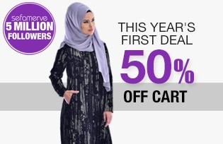 THIS YEAR´S FIRST DEAL 50% OFF CART