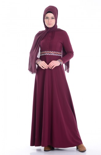 Robe Bordée 1002-02 Plum 1002-02