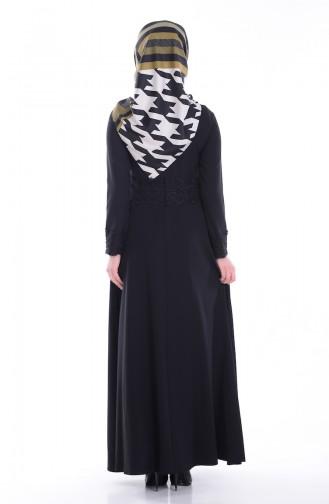 Spitzen Kleid 1001-01 Schwarz 1001-01
