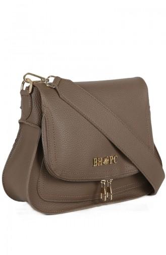 بيفرلي هيلز بولو كلوب حقيبة كتف نسائية 650 BHP0720-01 لون بني مائل للرمادي 650BHP0720