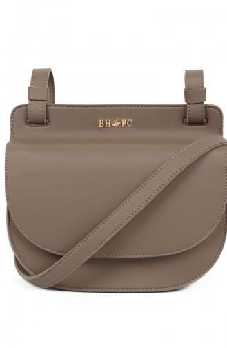 بيفرلي هيلز بولو كلوب حقيبة كتف نسائية 650 BHP0715-01 لون بني مائل للرمادي 650BHP0715