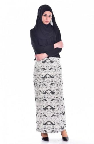 Dark Beige Skirt 3074-02
