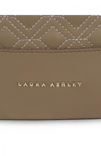 لورا آشلي حقيبة كتف نسائية 651 LAS0661-01لون بني مائل للرمادي داكن 651LAS0661-01