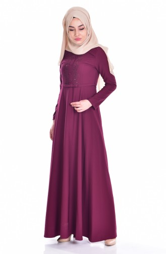 فستان بتفاصيل مُطرزة  1003-01