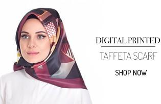 Dijital Baskılı Tafta Eşarp 95068