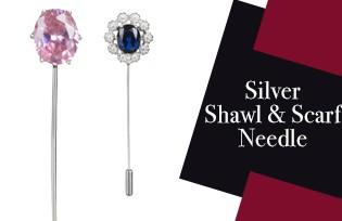 Silver Shawl & Scarf Needle