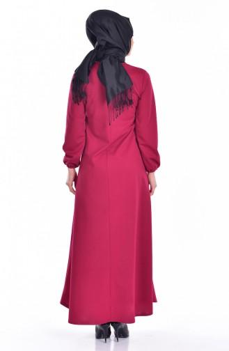 Hijab Kleid 0006-15 Fuchsia 0006-15