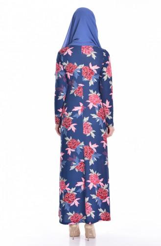 Hijab Kleid 5121-03 Dunkelblau 5121-03