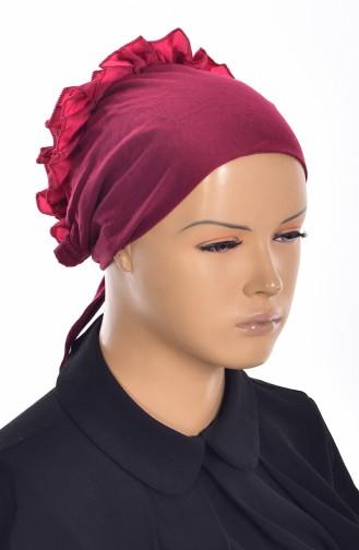Bonnet mit Falber -04 Weinrot 04