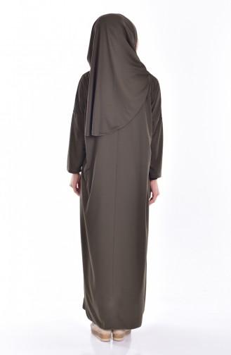 SefamervePractical Prayer Dress With Bag 0900-07 Khaki Green 0900-07