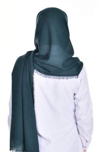 Elizan XXL Châle Crêpe 50050-31 Vert emeraude 31