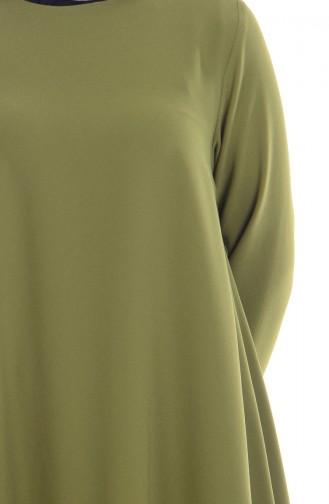 Asimetrik Uzun Tunik 45102-02 Fıstık Yeşil