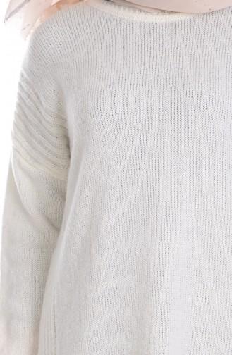 ايلميك بلوز بتصميم غير متماثل الطول 4033-03 لون عاجي 4033-03