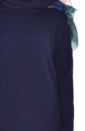 Pull Asymétrique 4033-07 Bleu Marine 4033-07