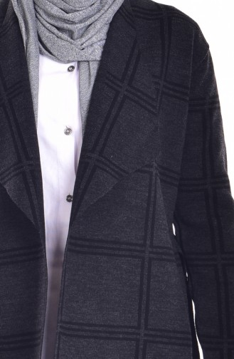 Striped Knitwear Cardigan 26321-06 Anthracite 26321-06