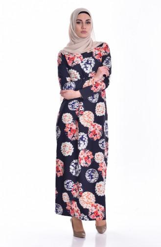 Çan Elbise 1489-01 Lacivert