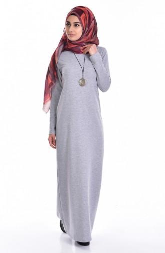 Light Gray İslamitische Jurk 2779-16