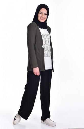 Bluz Ceket İkili Takım 8912-01 Haki 8912-01