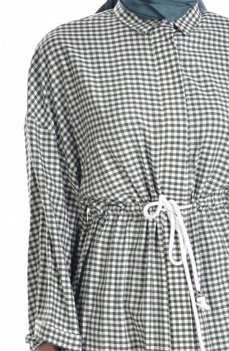 Checkered Tunic 6880-04 Khaki 6880-04