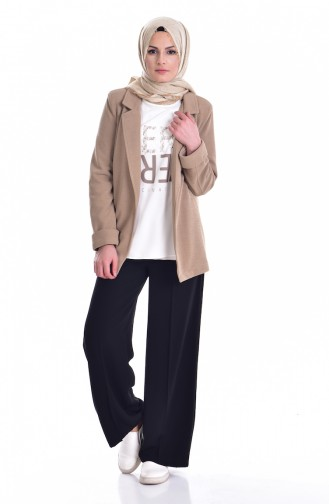 Ceket Bluz İkili Takım 8913-02 Koyu Bej 8913-02