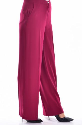 Pantalon Large avec Poches 0352-05 Plum 0352-05