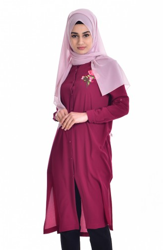 Embroidered Tunic 6870-03 Damson 6870-03