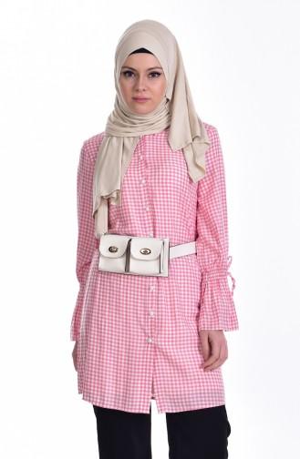 Checkered Tunic 6885-02 Pink 6885-02