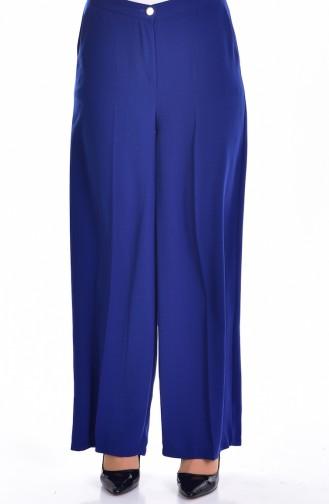 Pantalon Large avec Poches 0352-01 Bleu Roi 0352-01