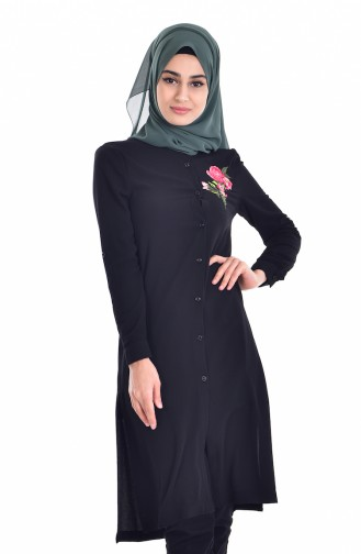 Embroidered Tunic 6870-04 Black 6870-04