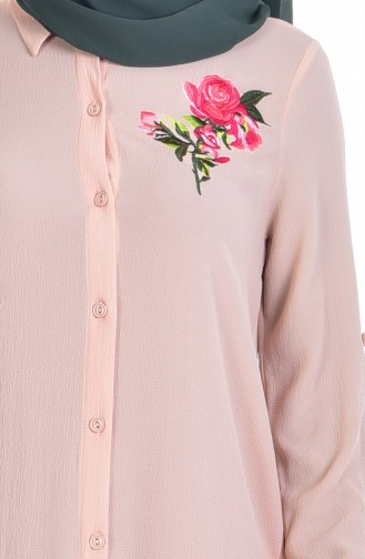 Embroidered Tunic 6870-01 Salmon 6870-01