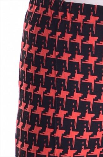 Gemusterte Hose 0034-01 Orange 0034-01